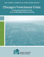 2013 Foreclosure Report Released