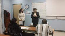 Samira & Aileen present at HACC